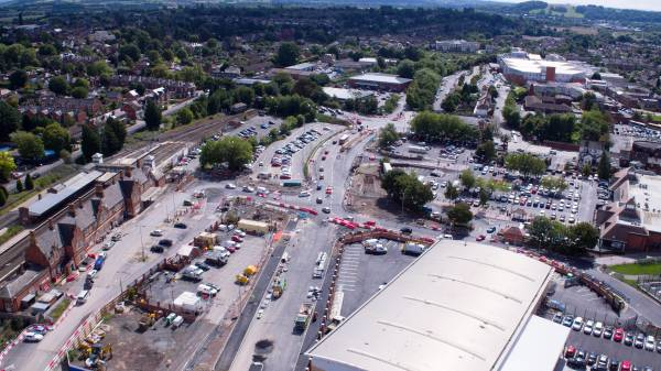 aerial photograph city link road hereford