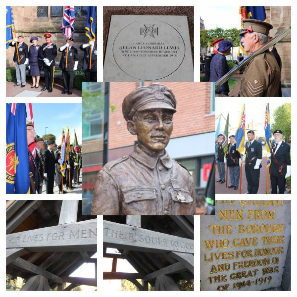Picture collage of WW1 commemoration