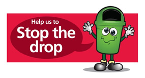 Help us to Stop the drop graphic